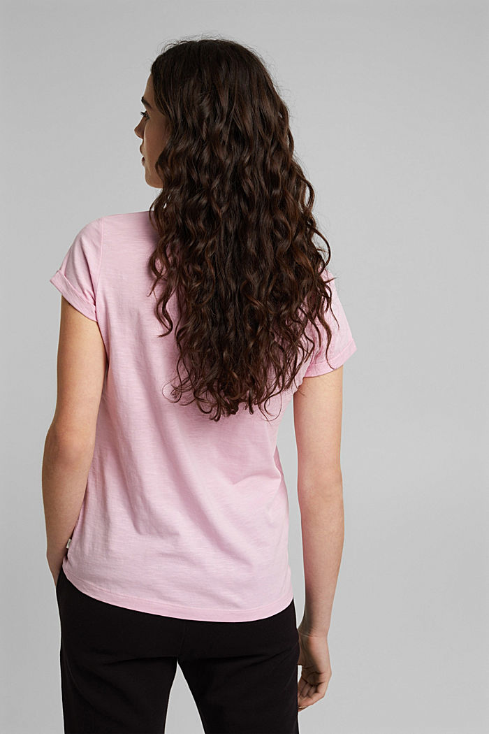 T-shirt made of 100% organic cotton, PINK, detail image number 3