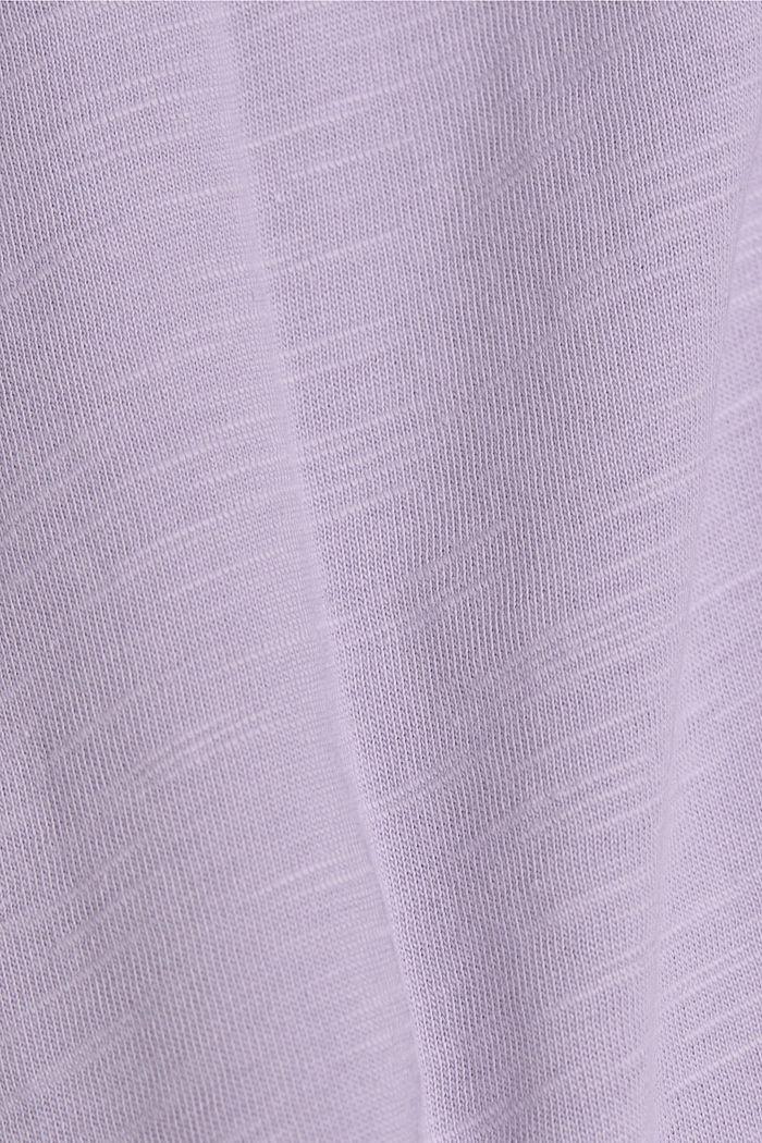 V-Neck T-Shirt aus 100% Bio-Baumwolle, LILAC, detail image number 4
