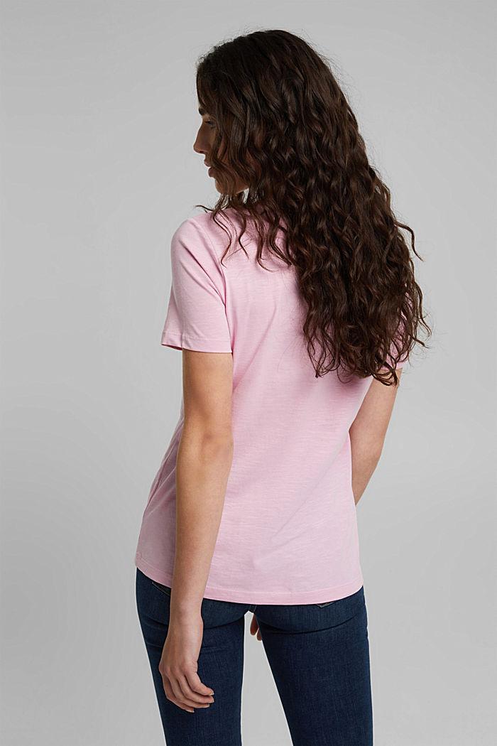 V-neck T-shirt in 100% organic cotton, PINK, detail image number 3