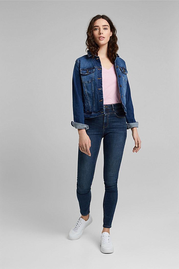 V-neck T-shirt in 100% organic cotton, PINK, detail image number 1