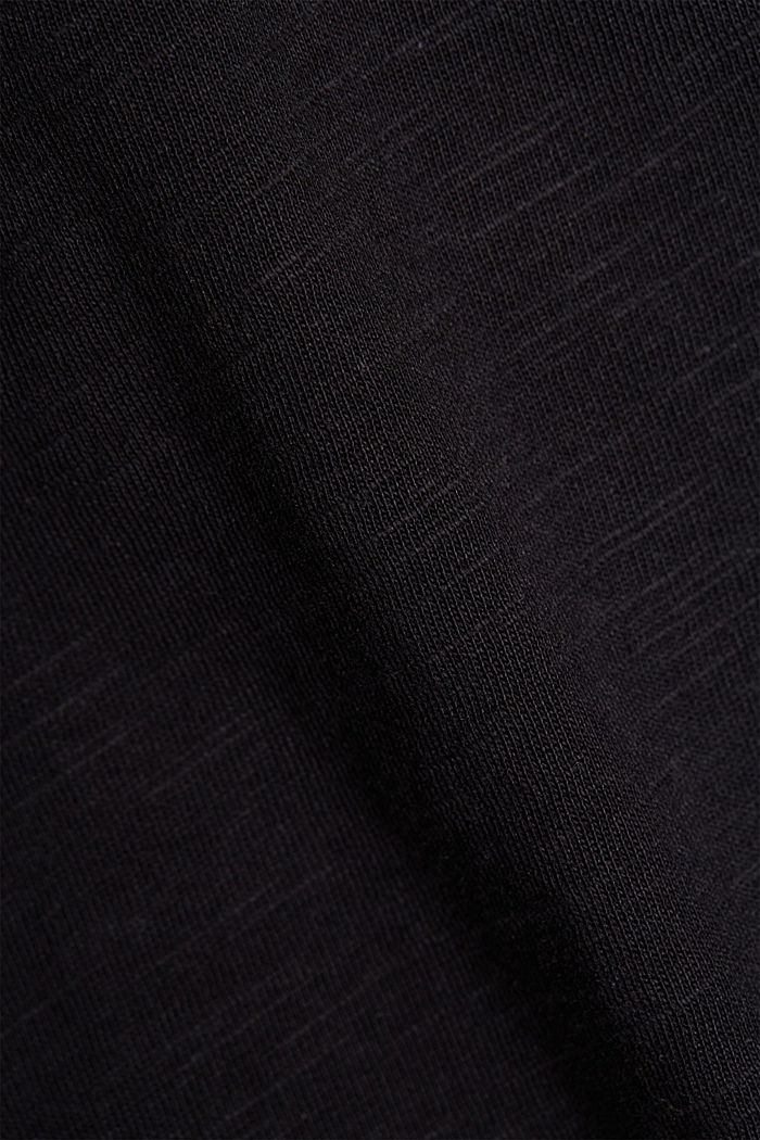 T-Shirt aus 100% Organic Cotton, BLACK, detail image number 4