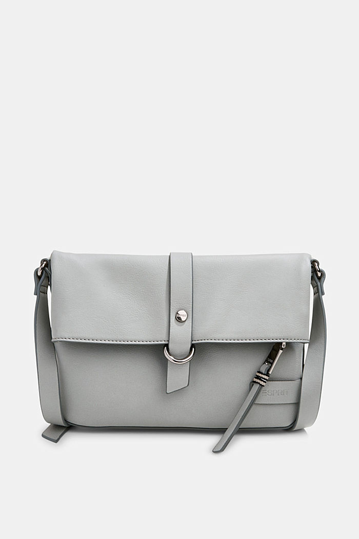 Vegan: Schultertasche in Leder-Optik, LIGHT GREY, detail image number 0