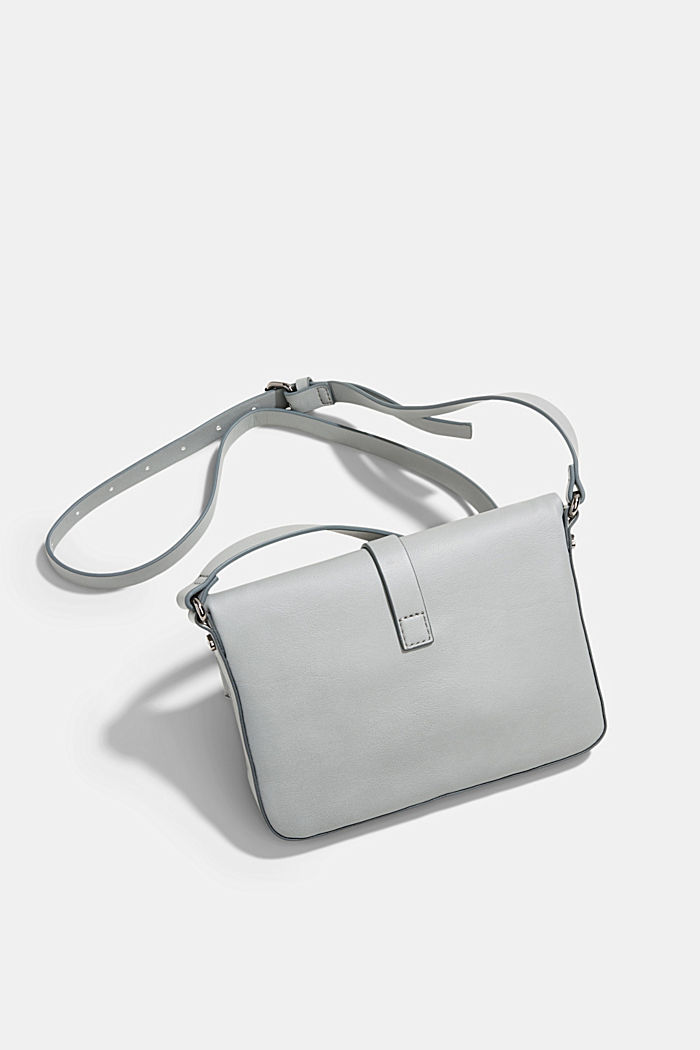 Vegan: Schultertasche in Leder-Optik, LIGHT GREY, detail image number 5