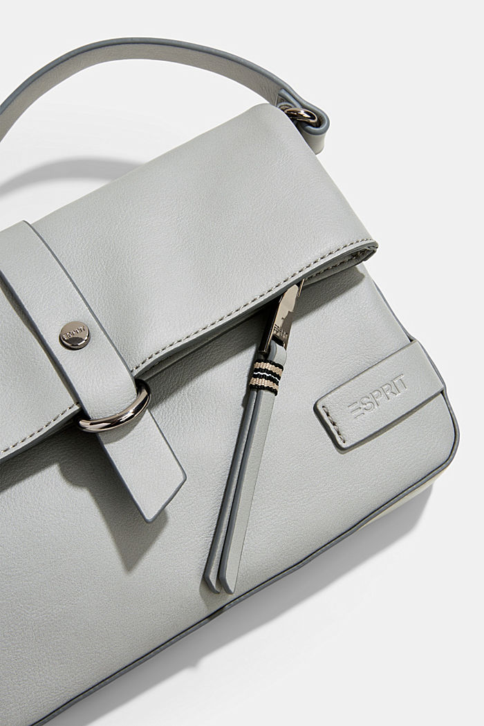 Vegan: Schultertasche in Leder-Optik, LIGHT GREY, detail image number 3