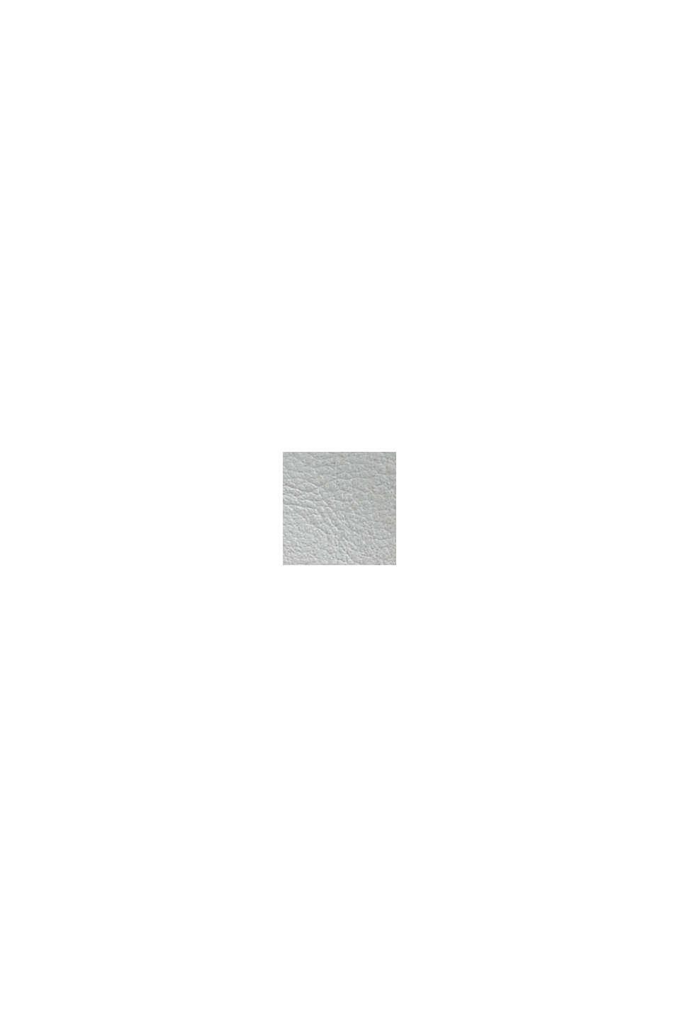 Vegansk: axelremsväska i skinnlook, LIGHT GREY, swatch
