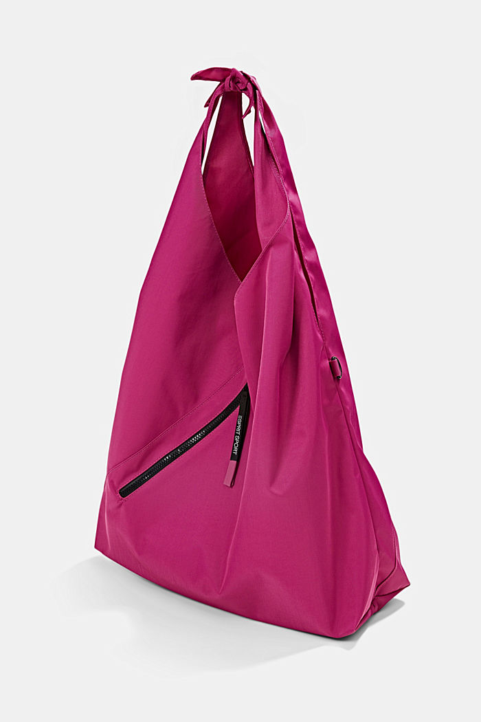 Sporty hobo bag, BERRY RED, detail image number 2