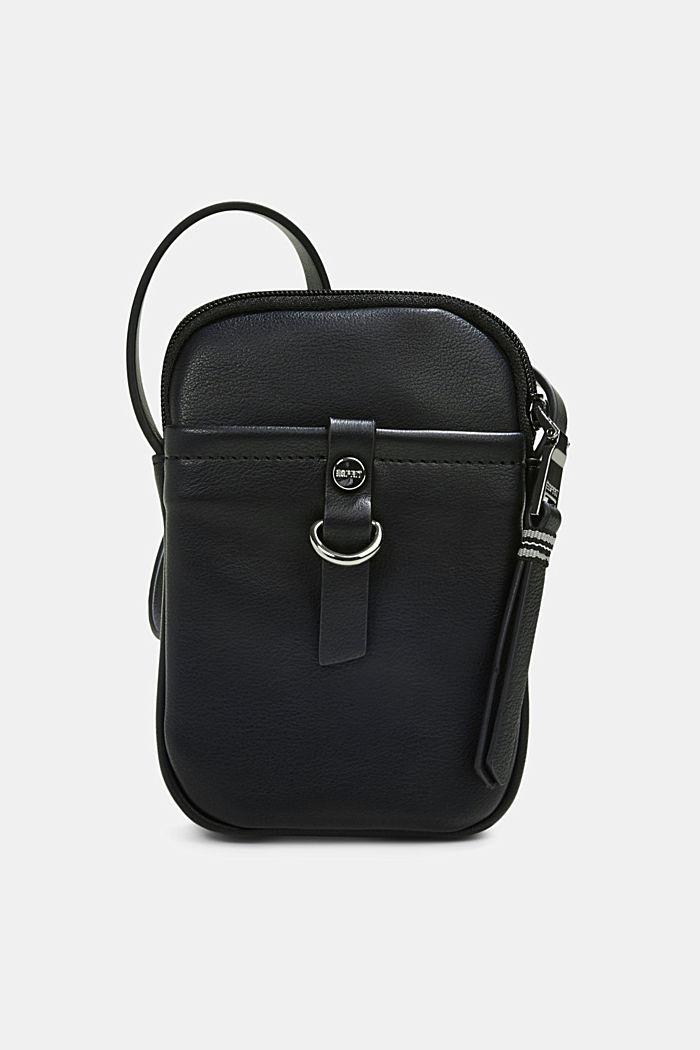 Vegan: Smartphone-Tasche in Leder-Optik, BLACK, detail image number 0