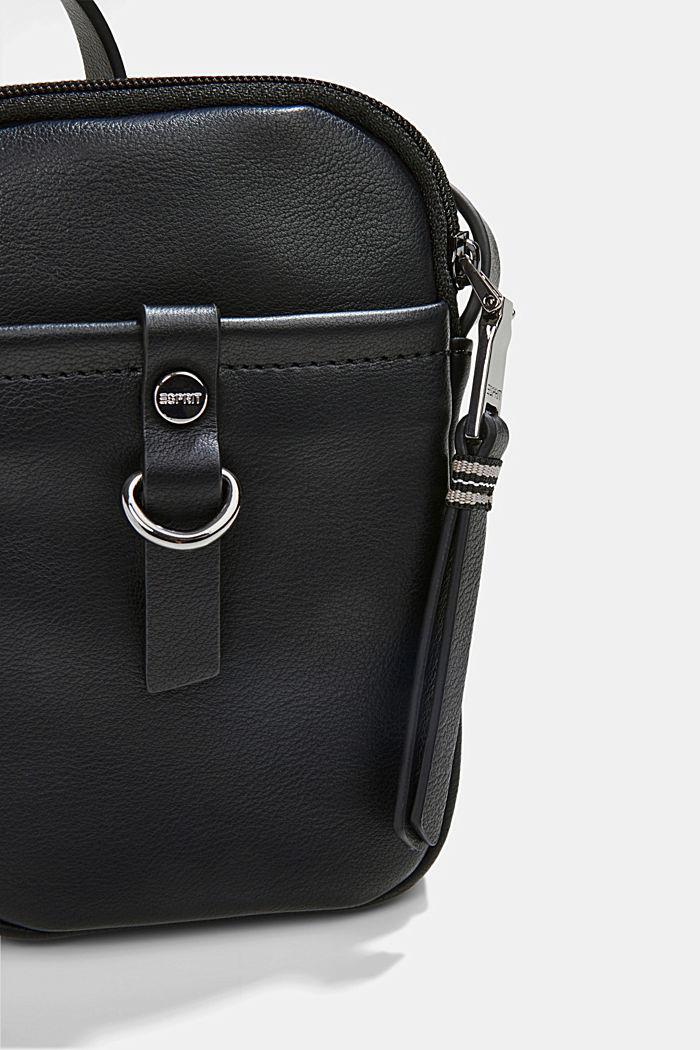 Vegan: Smartphone-Tasche in Leder-Optik, BLACK, detail image number 2