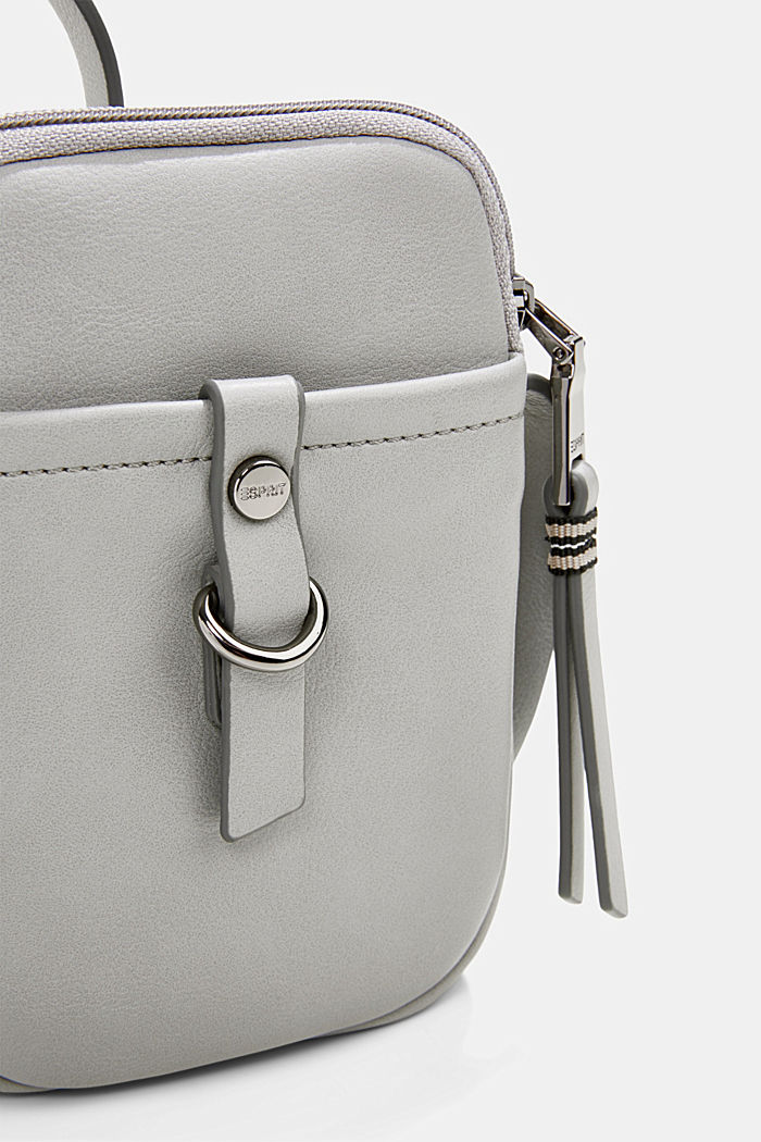 Vegan: Smartphone bag in faux leather, LIGHT GREY, detail image number 2