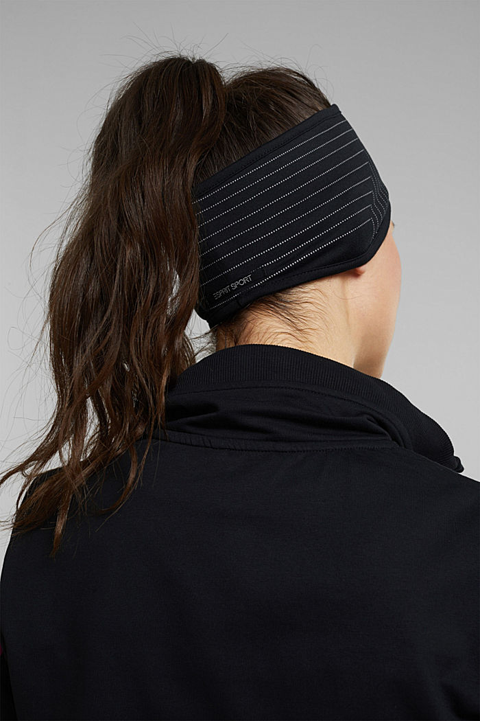 Recycled: fleece-lined headband, BLACK, detail image number 3