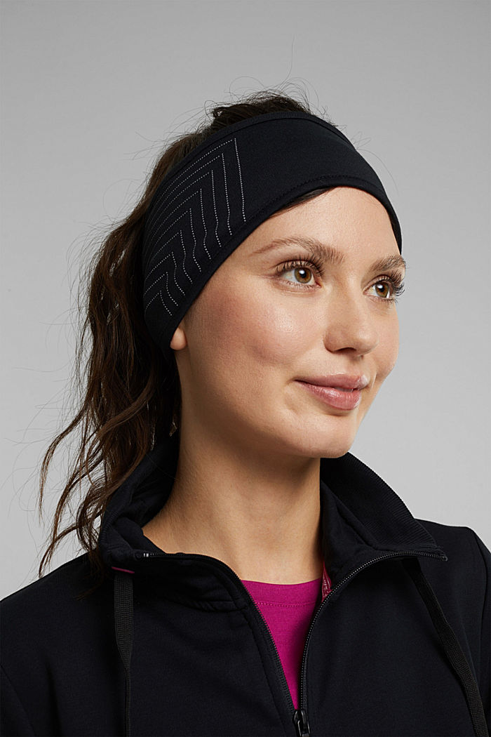 Recycled: fleece-lined headband, BLACK, detail image number 2