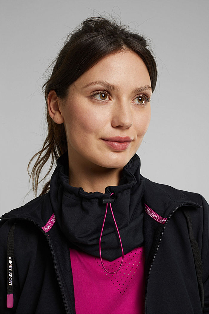 Recycled: drawstring sports collar, E-DRY