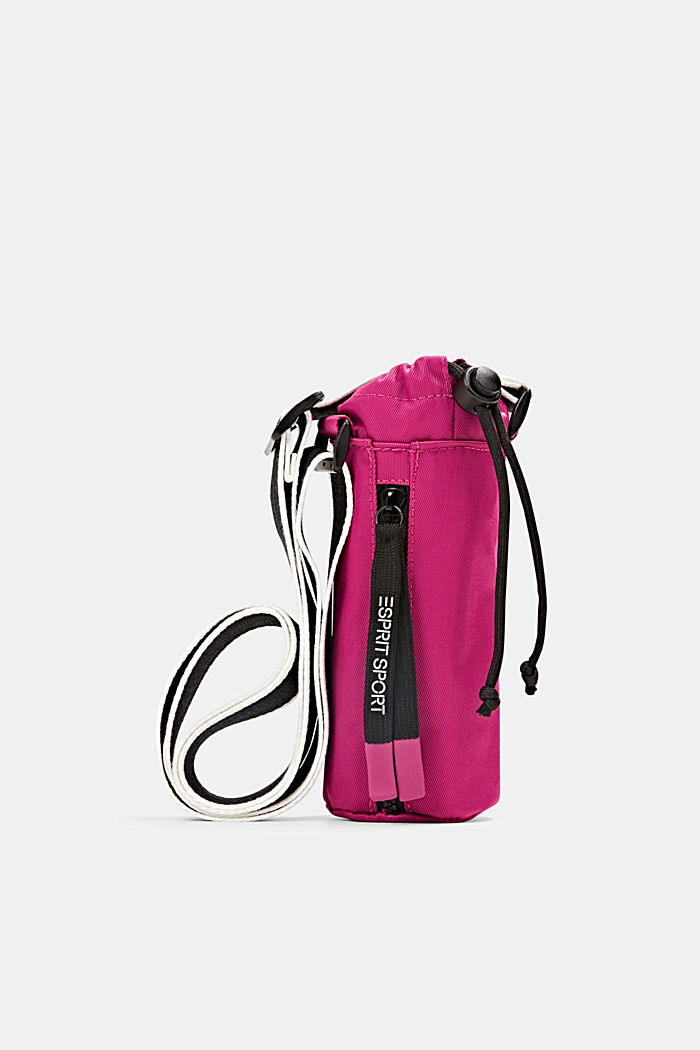 Over-the-shoulder drinking bottle bag, BERRY RED, overview