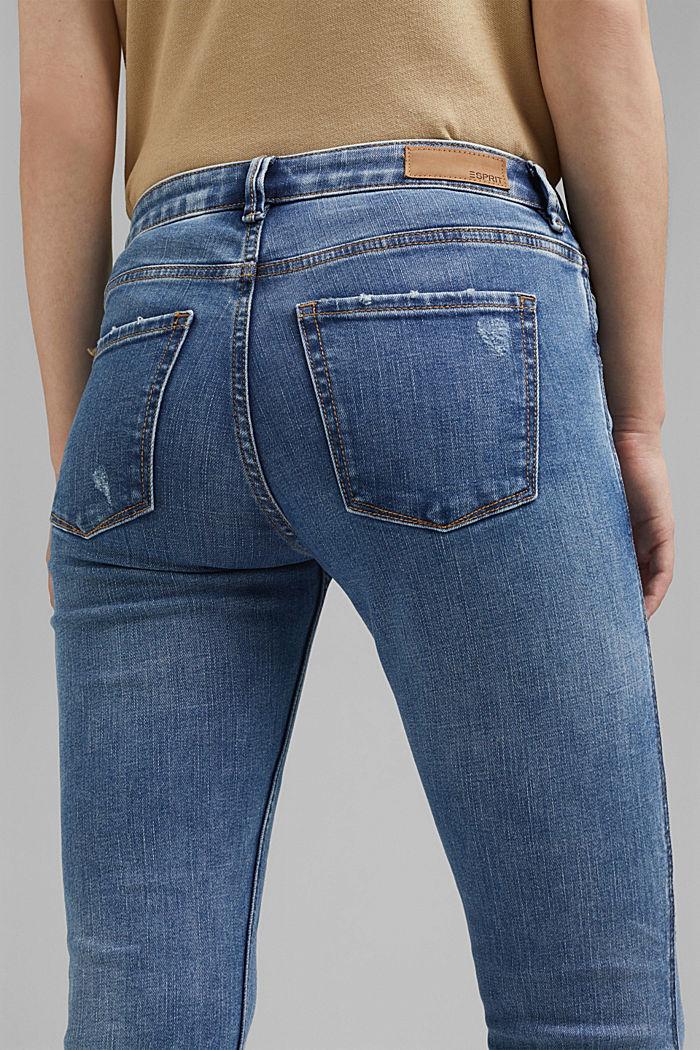 Stretch-Jeans mit Zipper-Details, BLUE LIGHT WASHED, detail image number 5