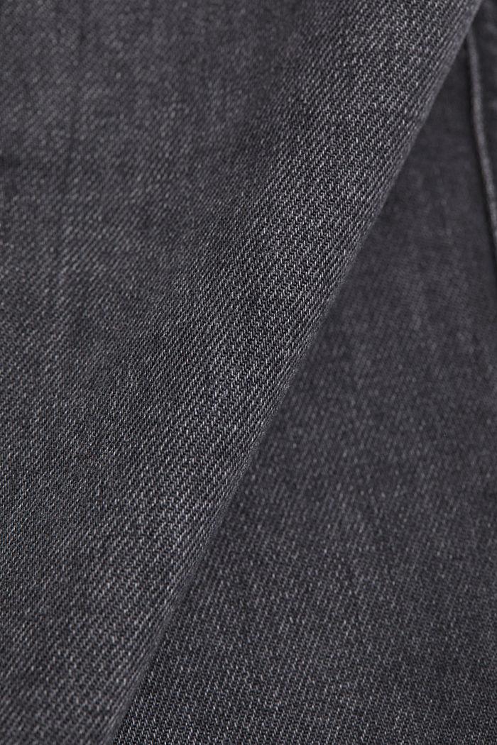 Stretch-Jeans mit Zipper-Detail, BLACK DARK WASHED, detail image number 4
