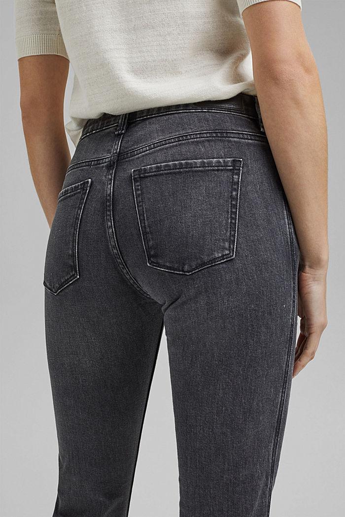 Stretch-Jeans mit Zipper-Detail, BLACK DARK WASHED, detail image number 5