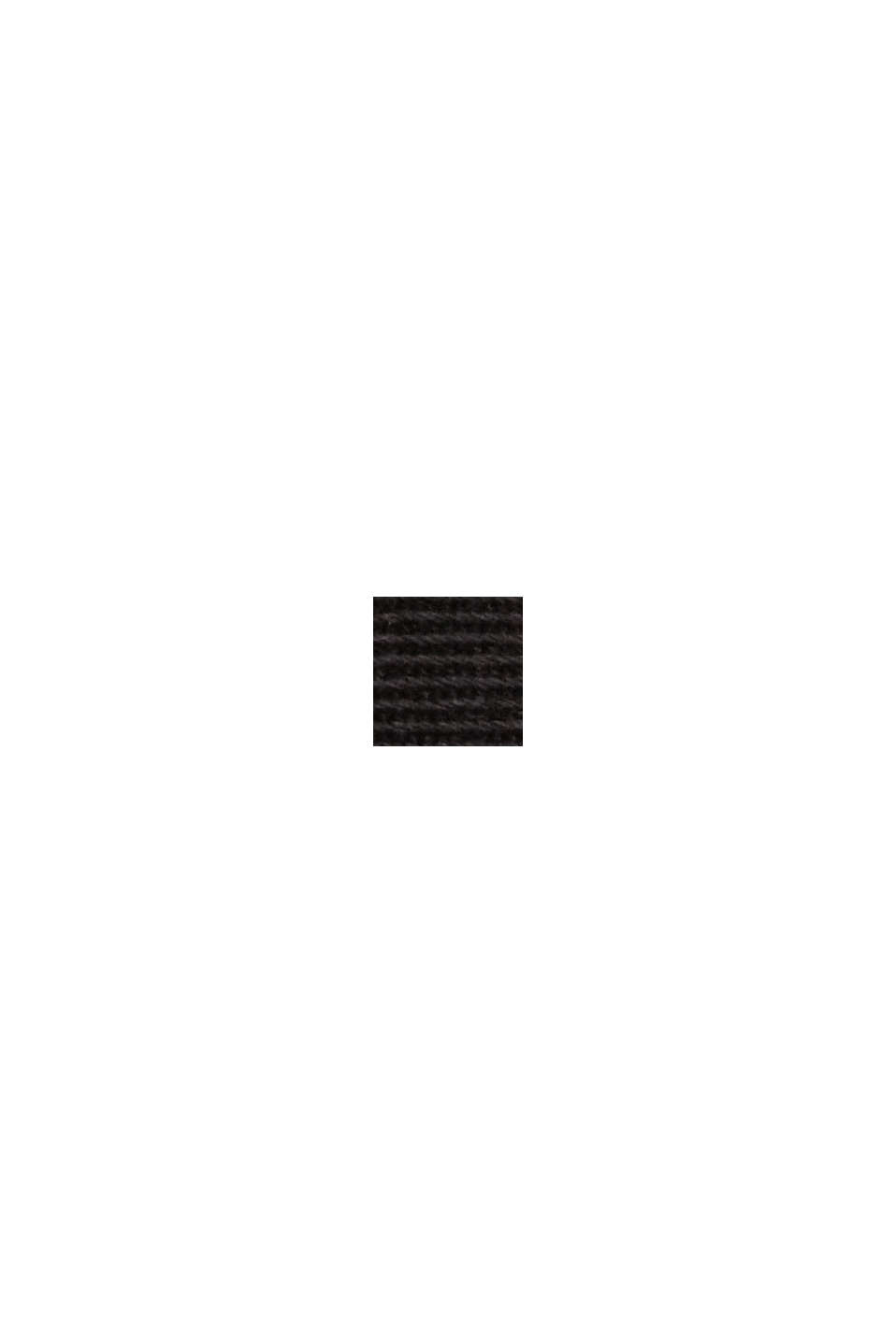 TENCEL™: Stretch-Chino mit hohem Bund, BLACK, swatch