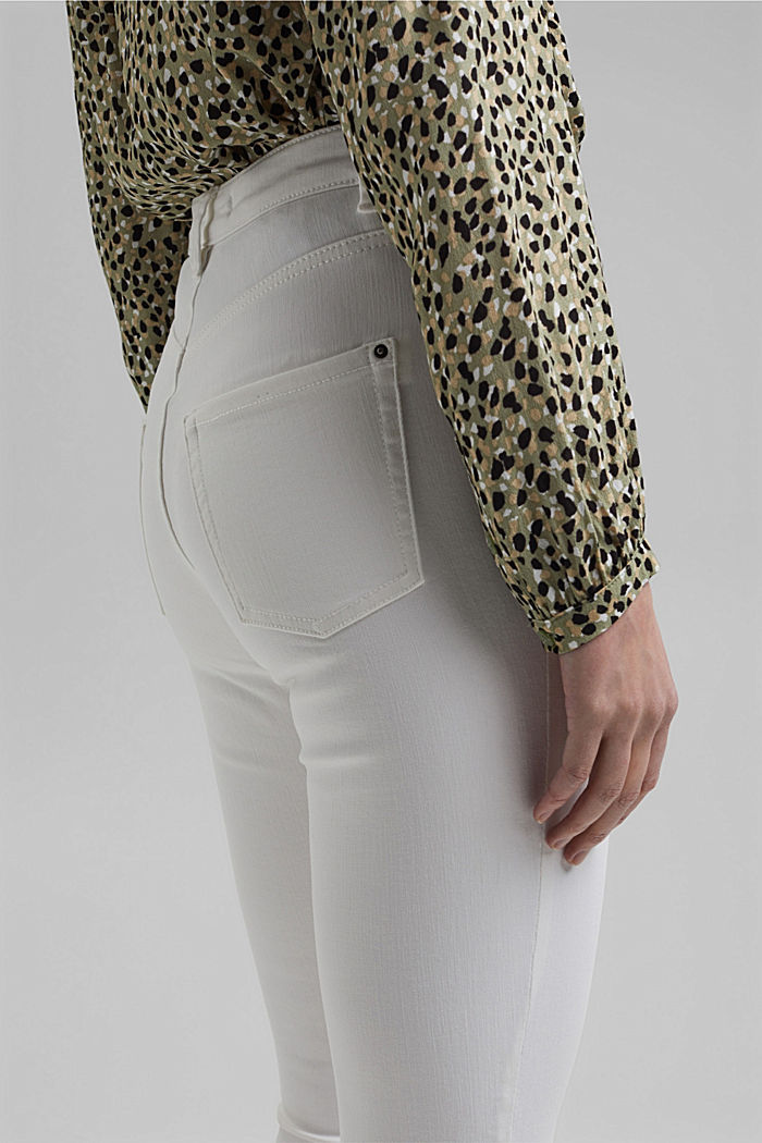 Shaping jeans made of organic cotton, WHITE, detail image number 2