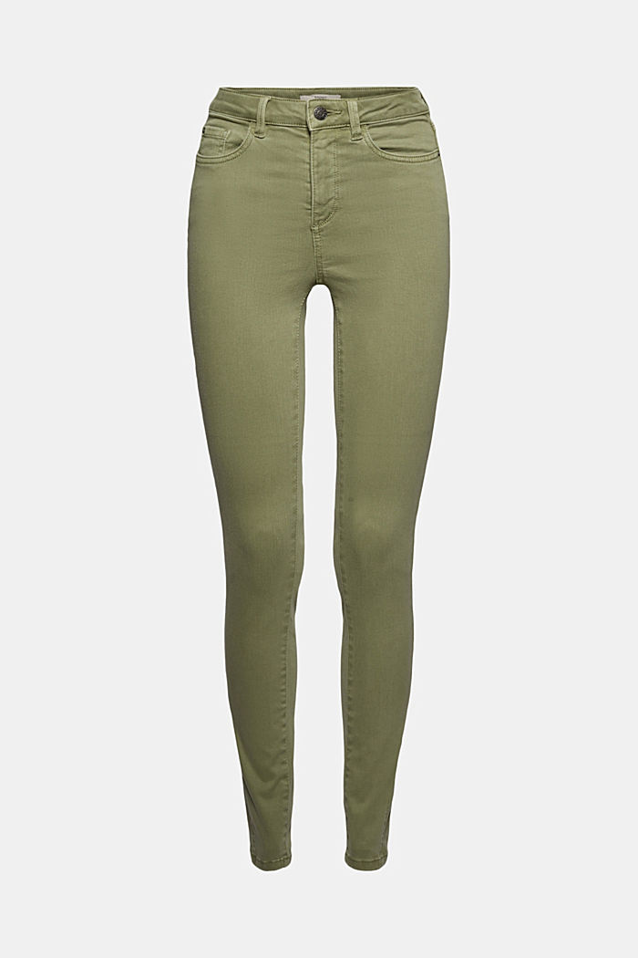 Jeans modellanti con cotone biologico, LIGHT KHAKI, detail image number 7