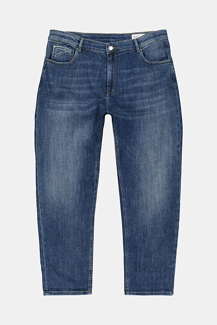 CURVY Stretch-Jeans, Organic Cotton, BLUE MEDIUM WASHED, detail image number 1
