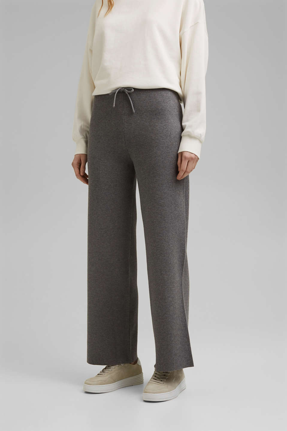 Esprit - Wide tracksuit bottoms with organic cotton