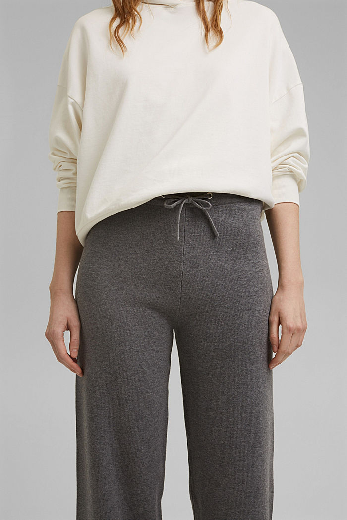 Wide tracksuit bottoms with organic cotton, MEDIUM GREY, detail image number 2