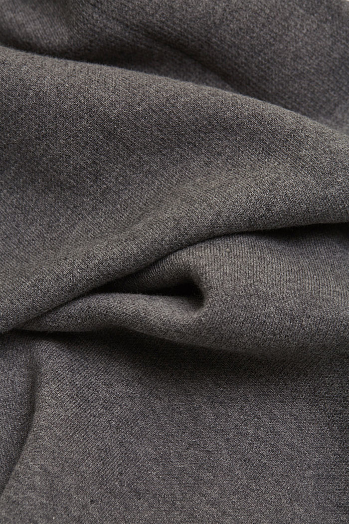 Wide tracksuit bottoms with organic cotton, MEDIUM GREY, detail image number 4