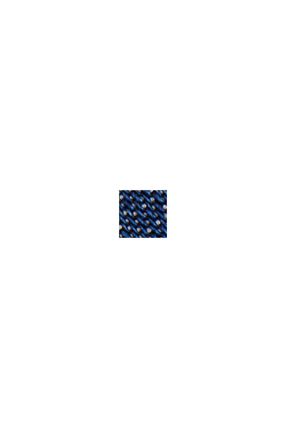 En TENCEL™: la robe en denim à volants, BLUE DARK WASHED, swatch