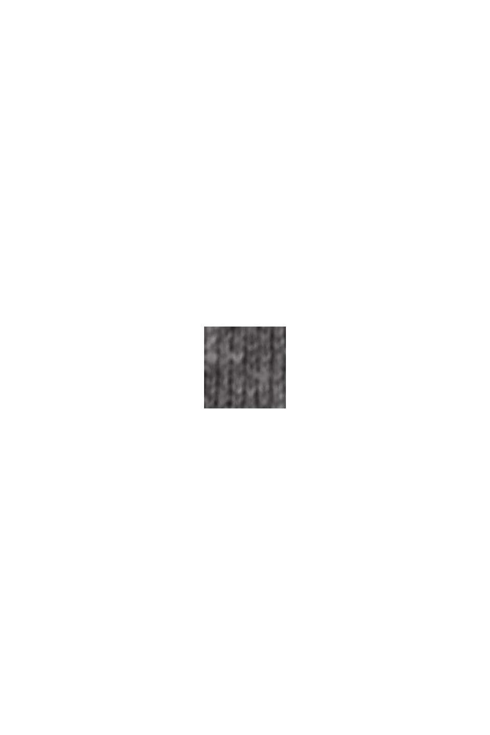 Vestido de punto con doble cara confeccionado en mezcla de algodón ecológico, GUNMETAL, swatch