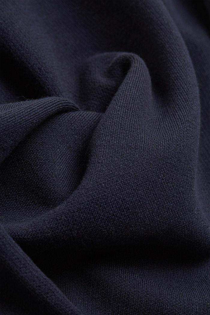 Doubleface-Strickkleid, 100% Organic Cotton, NAVY, detail image number 3