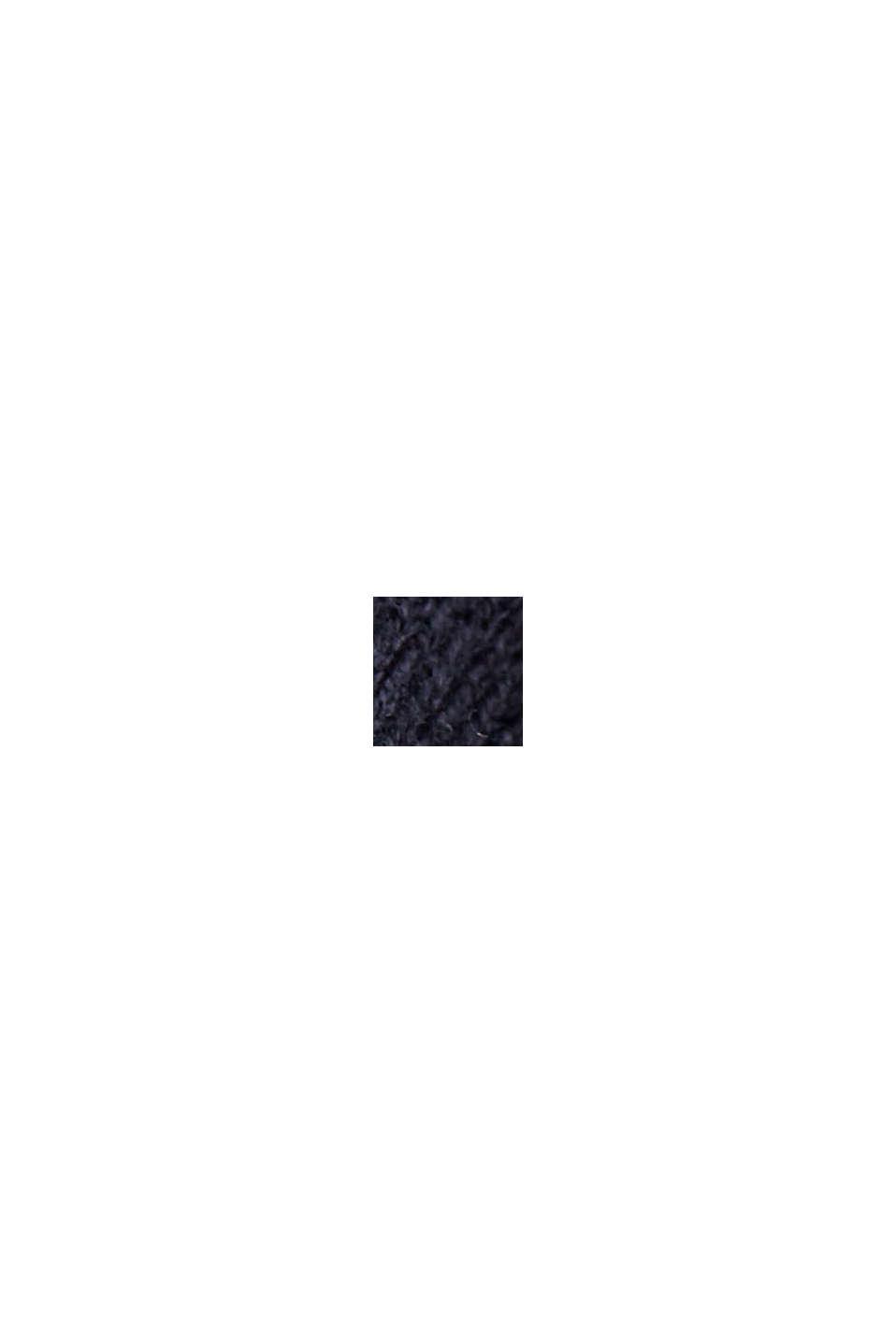 Abito in maglia doubleface in 100% cotone biologico, NAVY, swatch