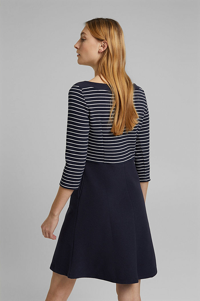 Recycled: jersey dress containing organic cotton, NAVY, detail image number 2