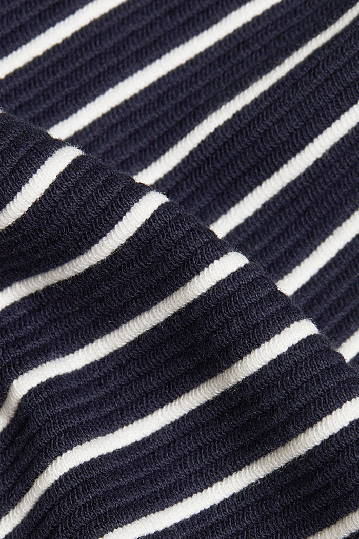 Recycled: jersey dress containing organic cotton, NAVY, detail image number 4