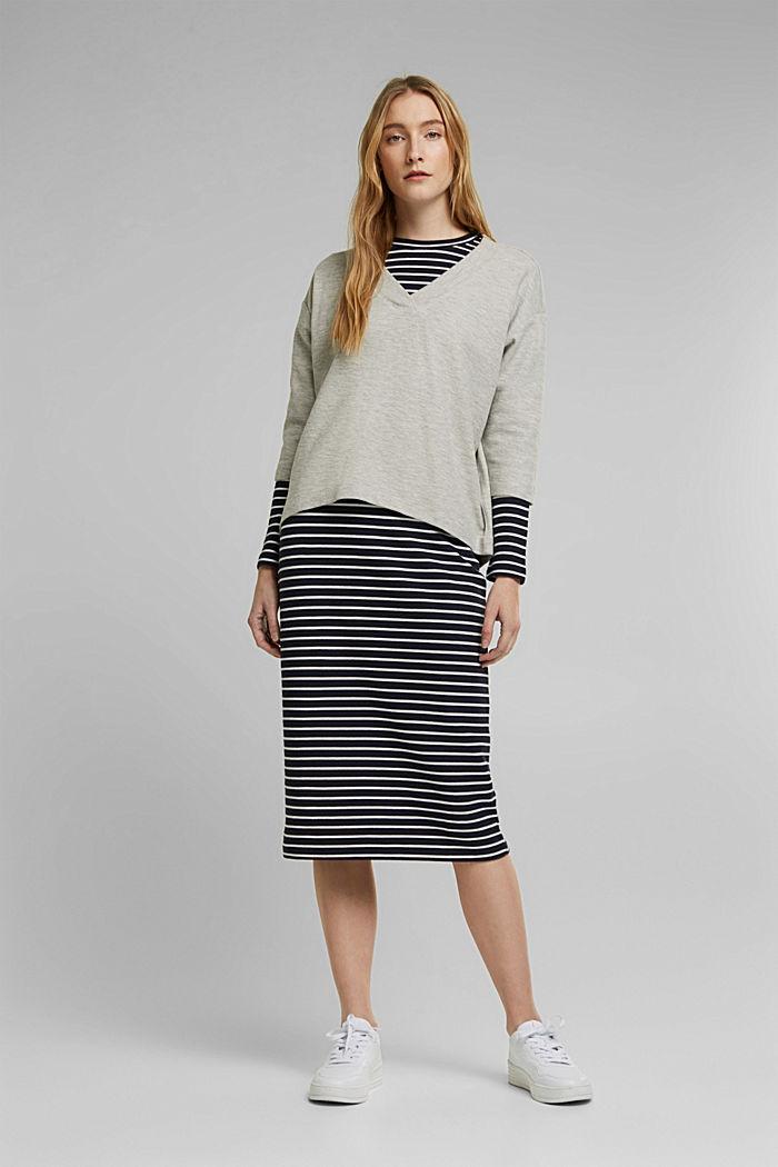 2in1: Pullover und Midikleid mit Organic Cotton, LIGHT GREY, detail image number 0