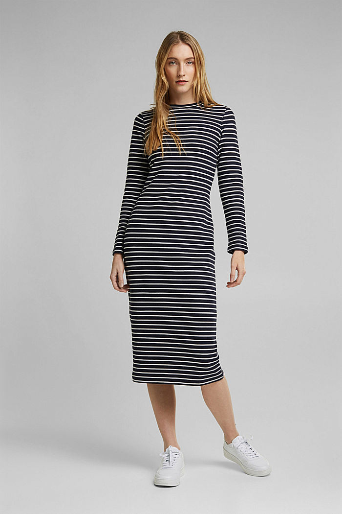 2-in-1: trui en midi-jurk met biologisch katoen, LIGHT GREY, detail image number 1