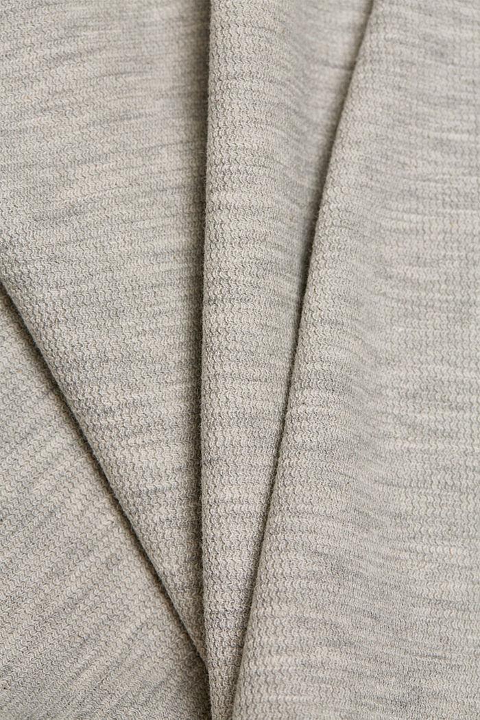 2-in-1: trui en midi-jurk met biologisch katoen, LIGHT GREY, detail image number 4