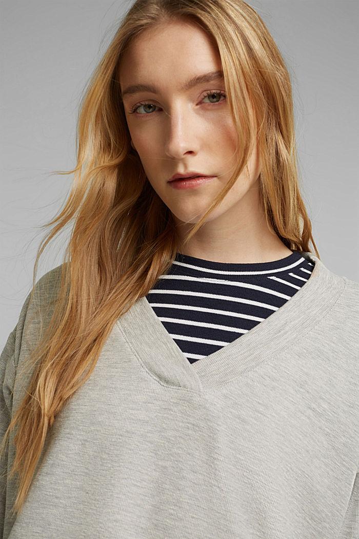 2in1: Pullover und Midikleid mit Organic Cotton, LIGHT GREY, detail image number 5