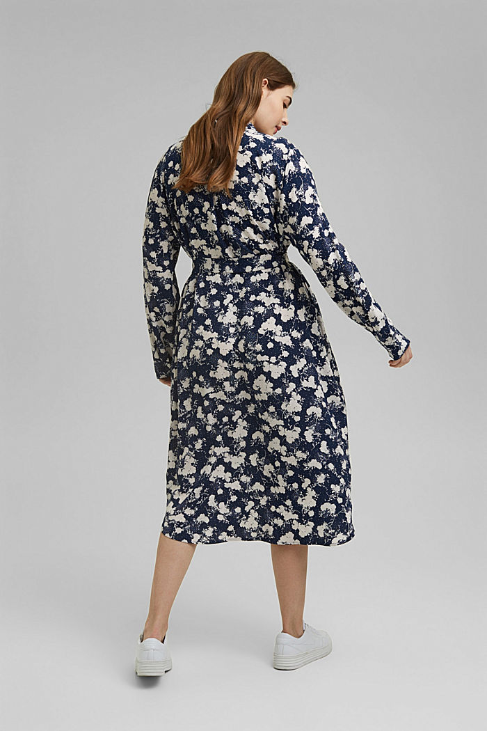 CURVY shirt dress with a floral print, NAVY, detail image number 2