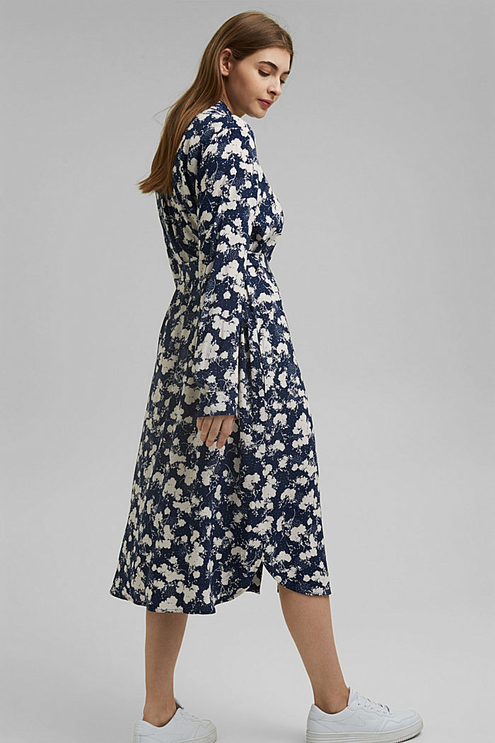 CURVY shirt dress with a floral print, NAVY, detail image number 1