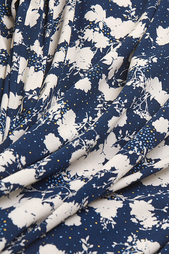 CURVY shirt dress with a floral print, NAVY, detail image number 4