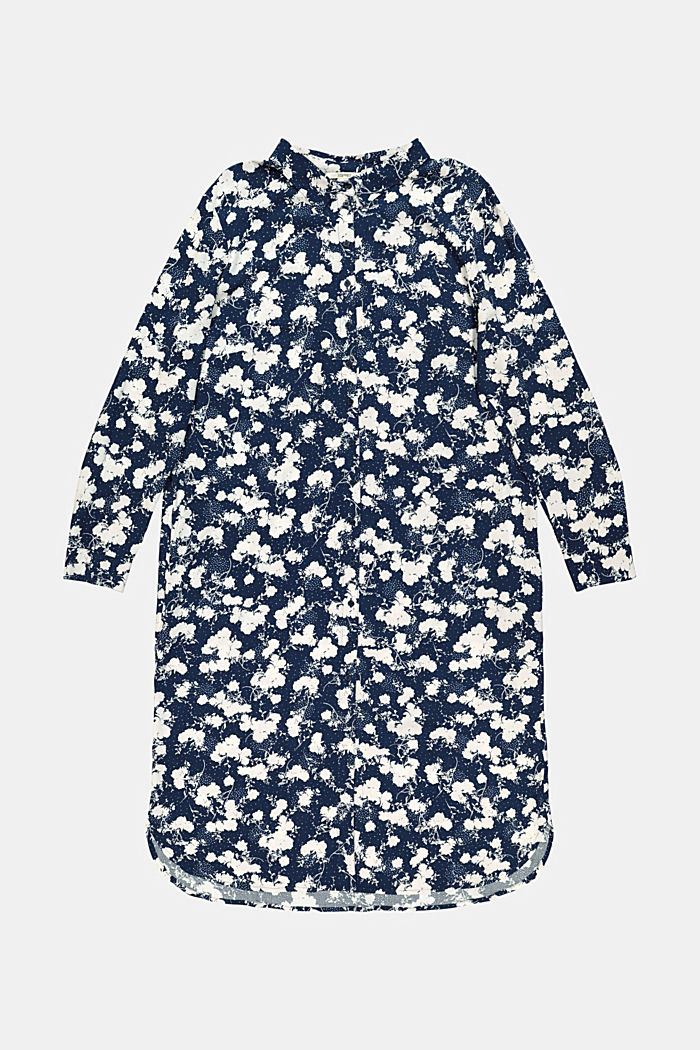 CURVY shirt dress with a floral print, NAVY, detail image number 5