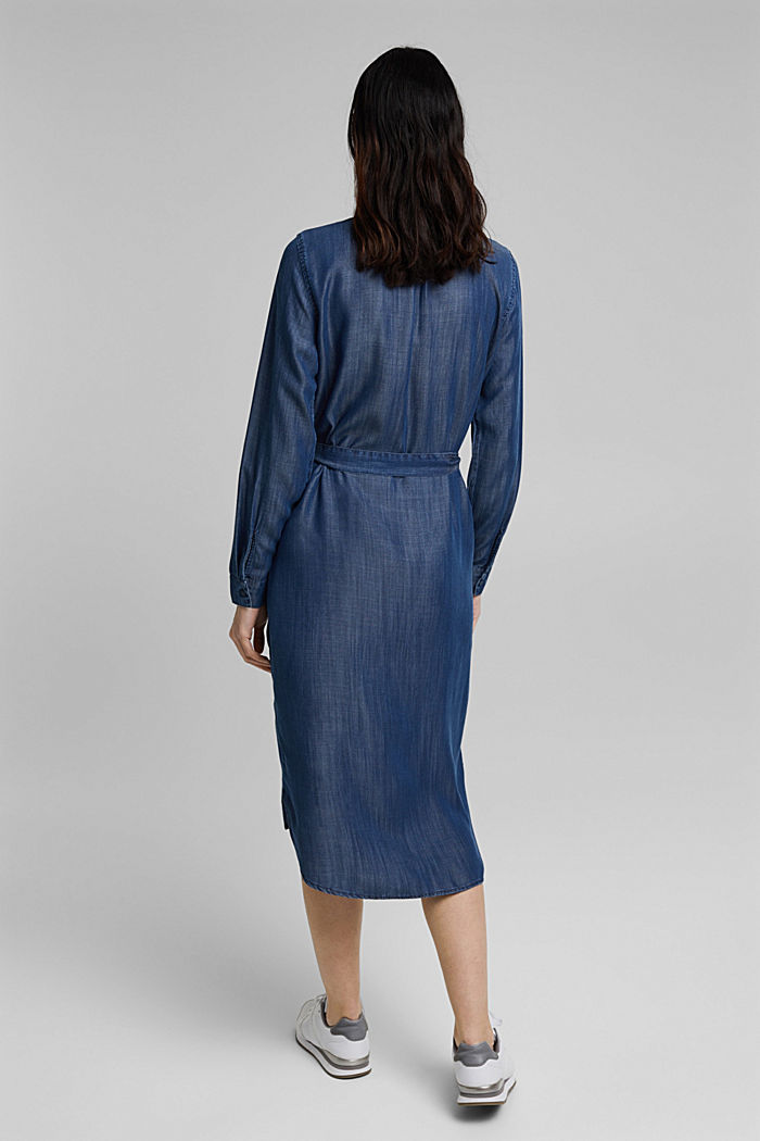 Aus TENCEL™: Kleid in Denim-Optik, BLUE DARK WASHED, detail image number 2
