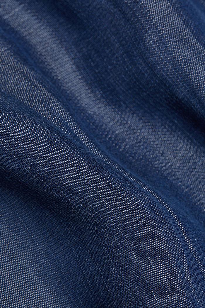 Aus TENCEL™: Kleid in Denim-Optik, BLUE DARK WASHED, detail image number 4