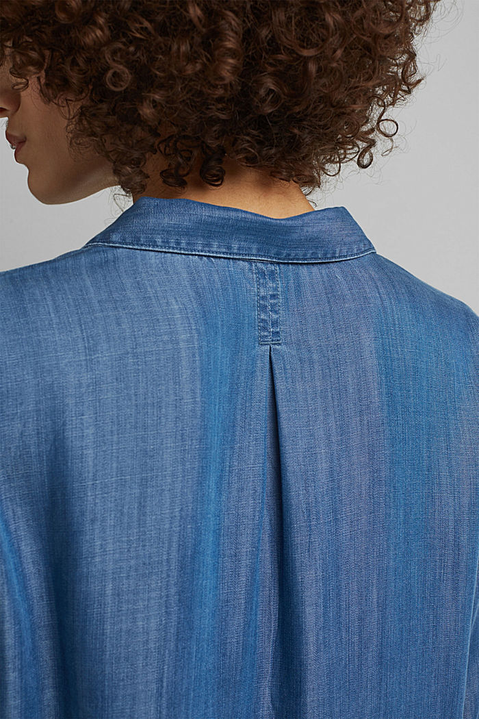 In TENCEL™ Lyocell: blusa di jeans, BLUE MEDIUM WASHED, detail image number 5