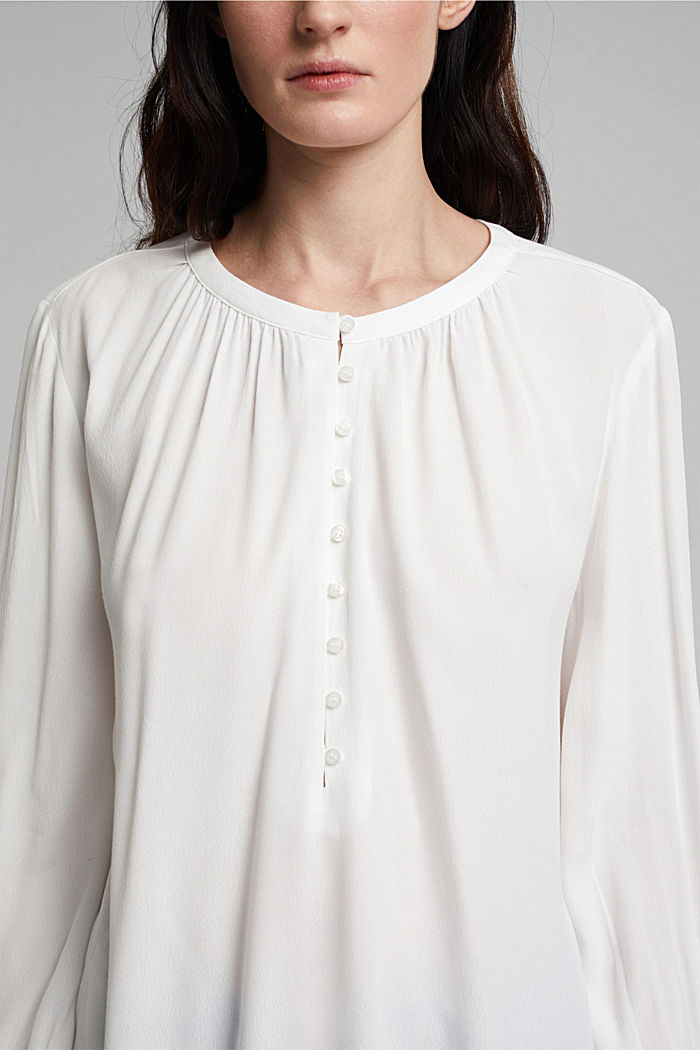Weite Tunika-Bluse, OFF WHITE, detail image number 2