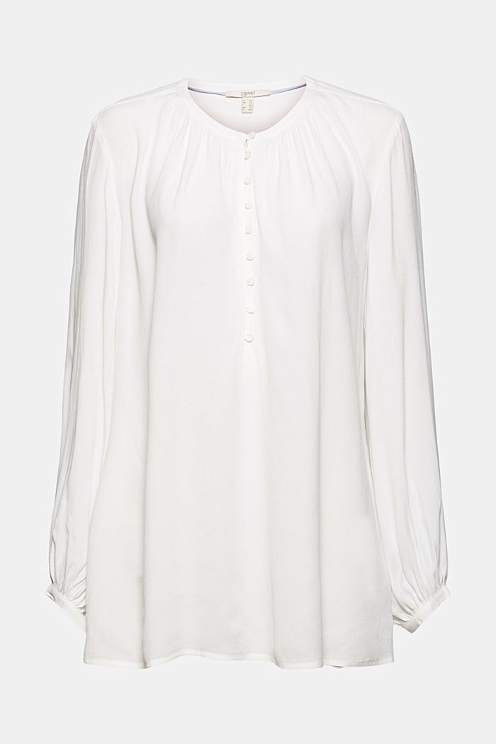 Weite Tunika-Bluse, OFF WHITE, detail image number 6
