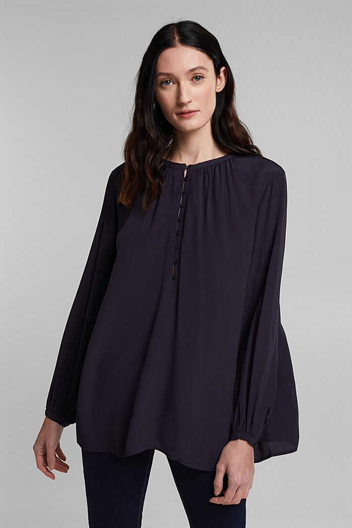 Wide tunic blouse