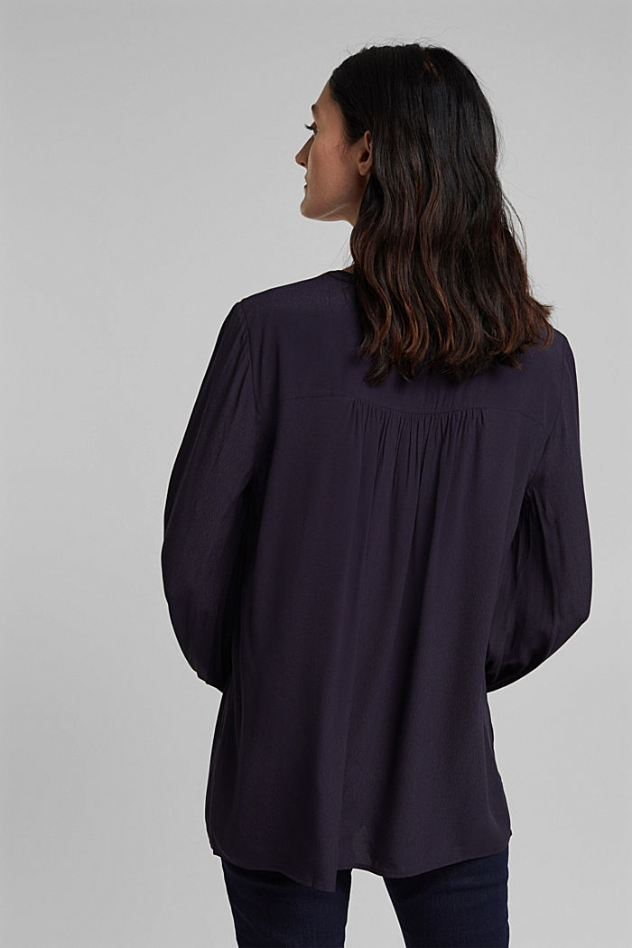 Wide tunic blouse, NAVY, detail image number 3
