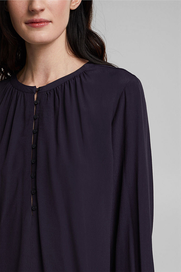 Wide tunic blouse, NAVY, detail image number 2
