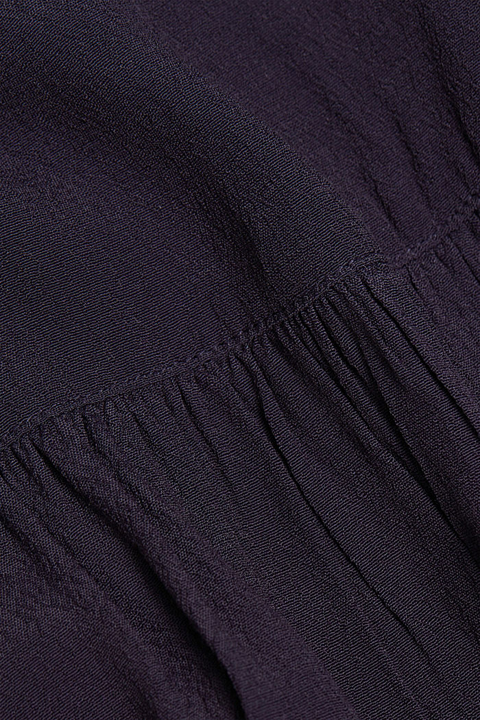 Wide tunic blouse, NAVY, detail image number 4